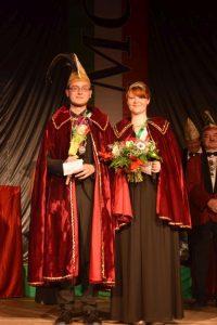 Das neue MCC-Prinzenpaar Hannes I. und Eva-Maria III.