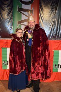 Das Prinzenpaar der Session 2017/2018: Seine Tollität Swen-Christian I. und Ihre Lieblichkeit Lisanna I.