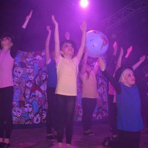 Die Bambinis mit ihrem Auftritt zur Musik von Michael Jackson