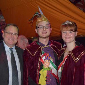OB Andreas Starke mit Prinzenpaar Hannes I. und Eva-Maria III.