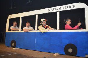Thomas Müller, Florian Nickoleit, Christopher Müller und Anna Nickoleit (v.l.) sind als Memmelsdorfer Mafia On Tour