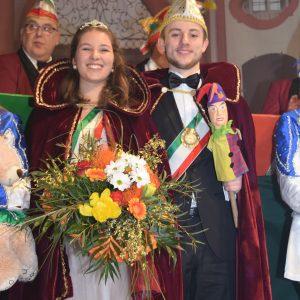 Das MCC Prinzenpaar Prinz Jakob I.  und Prinzessin Anja I.
