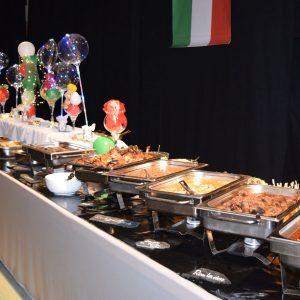 Das Küchenteam hat ein Buffet für alle Sinne gestaltet